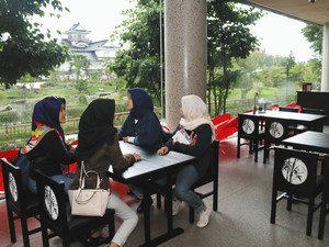 市中心部のにぎわいづくりを目指してオープンしたカフェ=富山市本丸の佐藤記念美術館で