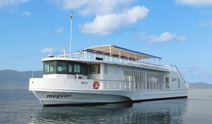 「地酒ボート」で利用する高速船「メグミ」=琵琶湖汽船提供