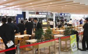 3店舗がオープンするフードコート。隣にはドラッグストアもオープンする=静岡空港で