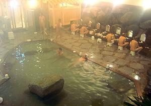 リニューアルした猿投温泉の岩風呂