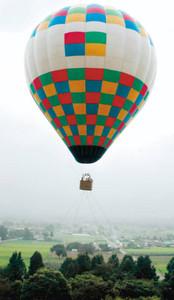 「係留熱気球」でのんびり空中浮遊