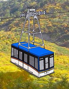 新しく導入される立山ロープウェイの客車のイメージ=立山黒部貫光提供