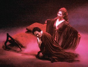 本番に向けてリハーサルをするオペラ「タンホイザー」の出演者ら=大津市のびわ湖ホールで