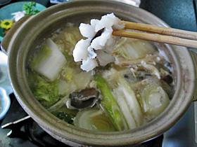 篠島で人気の「鱧しゃぶ鍋」