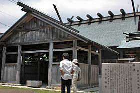 伊勢神宮の古材で造られた神明神社
