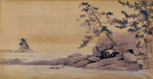 高岡市美術館の収蔵品で人気ナンバーワンになった横山大観の「雨晴義経岩」
