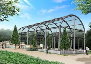 4月にオープン予定のハクトウワシ舎のイメージ図(東山動物園提供)