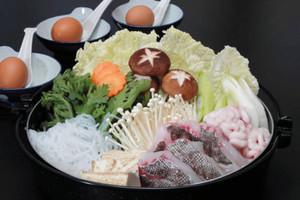 おすすめの島の食材「タラ」を使ったぴんぴん鍋(実行委提供)