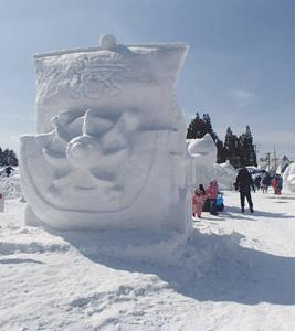 たかす雪まつり=昨年