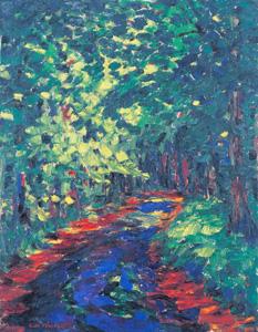エミール・ノルデ「森の小道」メナード美術館所蔵