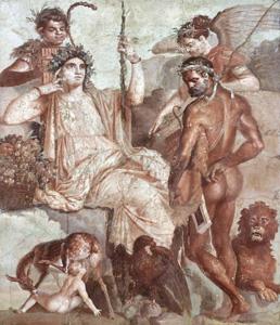 「赤ん坊のテレフォスを発見するヘラクレス」1世紀後半 ナポリ国立考古学博物館蔵 ©ARCHIVIO DELL'ARTE-Luciano Pedicini/fotografo