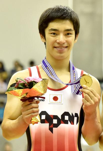 豊田国際体操=白井健三選手、昨年の大会から