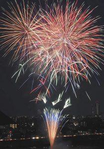 昨年の全国選抜長良川中日花火大会