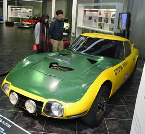 世界記録を達成した「トヨタ2000GTスピードトライアル」=長久手市のトヨタ博物館で