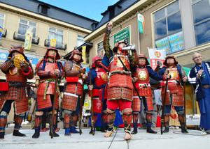 昨年の甲冑祭開会式の様子=彦根市提供