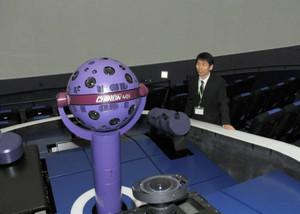 光学式では世界最多の星を投影できるようになったプラネタリウム=四日市市立博物館で