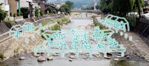高山JCが計画する川床のイメージ図
