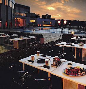 7月1日オープンするレイクサイドガーデン=大津市の大津プリンスホテルで