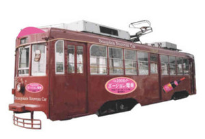 豊橋鉄道が11月28日から運行する「ボージョレ電車」のイメージ