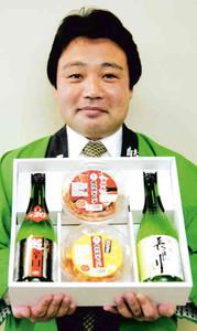 辛口の日本酒と各務原キムチのセット=各務原市で