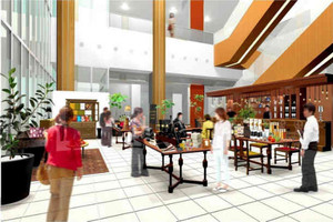 岐阜駅前の活性化を目指し開業するショップ・カフェ「マージ」(イメージ図)