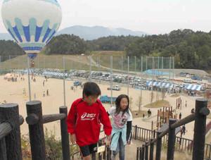 親自然型公園として全面オープンした伊香立公園=大津市の伊香立公園で