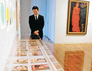 見せ方に工夫を凝らした館蔵品展=小松市宮本三郎美術館で
