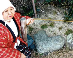 ミキモト真珠島で見つかり、観光海女の間で話題のハート形の石=鳥羽市で