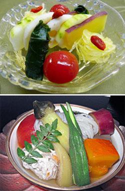 夏季限定メニューとして湯涌温泉で提供されている「夏おでん」