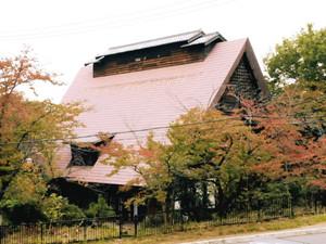 50年以上前に岐阜・白川郷から移築された白雲閣=名古屋市緑区大高町忠治山で