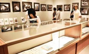 完成50周年で企画された黒部ダムの特別展=黒部市歴史民俗資料館で